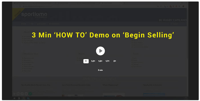3 MIN 'How to' begin selling demo